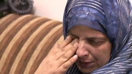 The mother of Mohammed Abu Khdair