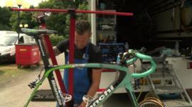 Setting up a tour de france bike