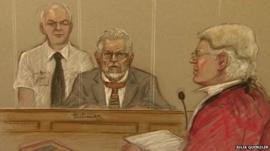 Court sketch of Rolf Harris (c)