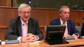 Jean-Claude Juncker and Nigel Farage