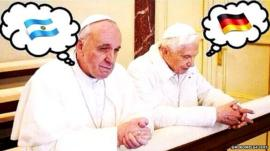 Pope Francis v Pope Benedict