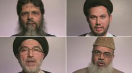 (Clockwise from top left) Dr Abu Muntasir, Sheikh Sayed Ali Rizvi, Ayatollah Dr Seyed Fazel Milani, Maulana Shahid Raza