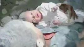 Baby rescued in Aleppo