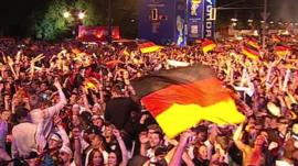 German fans celebrating