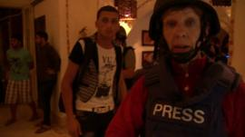 The BBC's Lyse Doucet at Gaza hotel