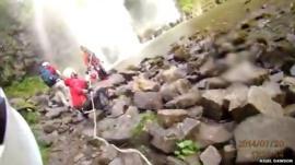 Winch rescue in Brecon Beacons