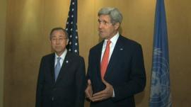 Ban Ki-moon and John Kerry