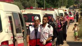 Gaza ambulances