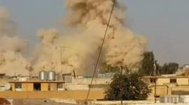 The Shrine of Yunus in Mosul is blown up
