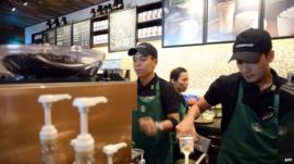 Starbucks shop in Vietnam