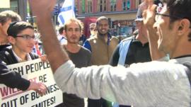 Protesters clash over alleged anti-Semitism