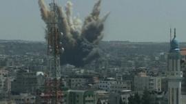 Air strikes over Gaza