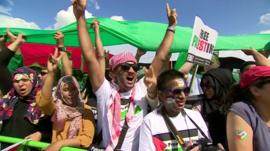 Gaza rally in Hyde Park