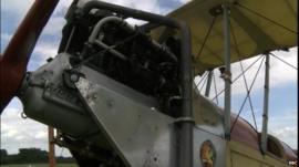 WW1 BE2 biplane replica