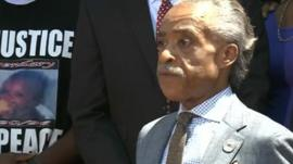 The Rev Al Sharpton in St Louis