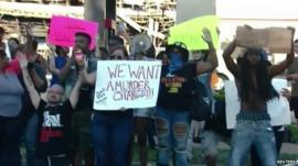 Protesters calling for justice for Michael Brown