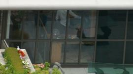 police inside Sir Cliff Richard's flat