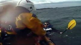 Man rescued from the sea