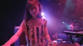 Candida playing the keyboard