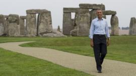 Barack Obama at Stonehenge