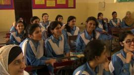 Schoolgirls in Islamabad Pakistan