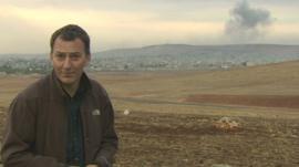Mark Urban in Kobane