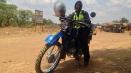 Madalitso is a rider for health - a medical motorbike courier working in Malawi
