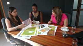 Nadia Bhegani, Olga Mugyenyi and Nahida Bhegani