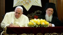 Pope Francis and Patriarch Bartholomew I