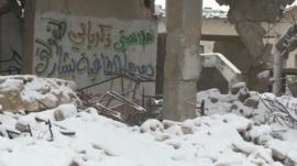 Snow in Aleppo, Syria