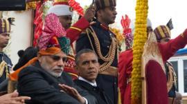 Barack Obama and Narenda Modi