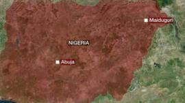 Graphic showing Maiduguri, Nigerias