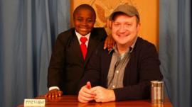 Kid President team Robby Novak and Brad Montague