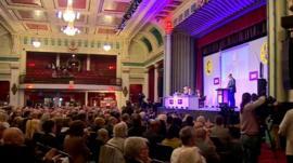 Mark Reckless MP addressing UKIP spring conference, Margate