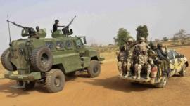 Nigerian army patrols