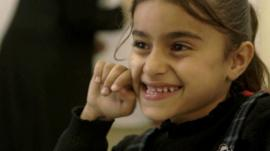 A young girl from Syria