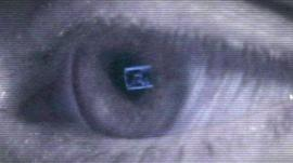 An eye looking at a computer