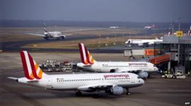 Germanwings planes at airport