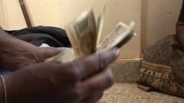 Small bank lending money
