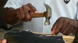 Furniture maker in Zambia