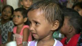Undernourished child