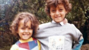 Childhood photo of Mai Noam n' her brutha up in Taiz