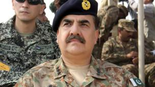 'File photo: Raheel Sharif' from the web at 'http://ichef-1.bbci.co.uk/news/304/cpsprodpb/12300/production/_86669447_86669446.jpg'