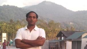 'Rajesh Kumar says he's unhappy with India's ruling BJP party' from the web at 'http://ichef-1.bbci.co.uk/news/304/cpsprodpb/13699/production/_86631597_rajesh.jpg'