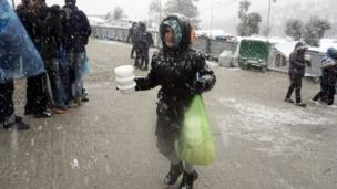 Mujer migrante