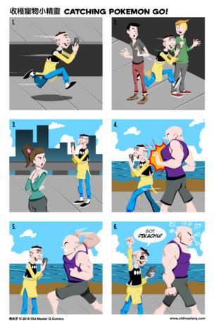 """New """"Old Master Q"""" strip about Pokemon Go"""