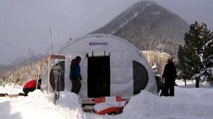Arctic basecamp at Davos