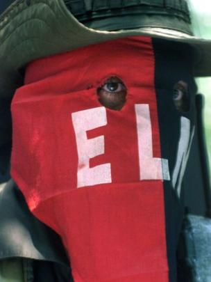 Guerrillero del ELN (foto de archivo)