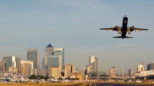 A British Airways flight takes off