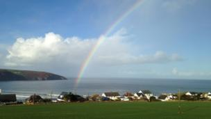 Rainbow in Gwbert, Ceredigion